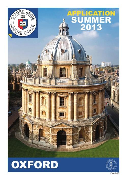 Oxford Brochure 2013