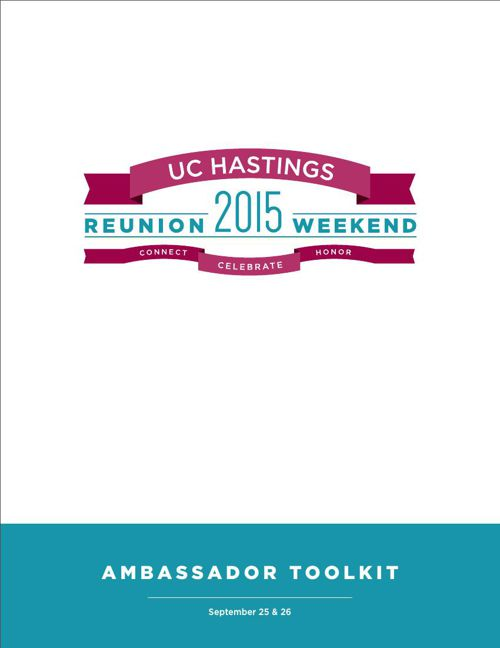UC Hastings Reunion Toolkit