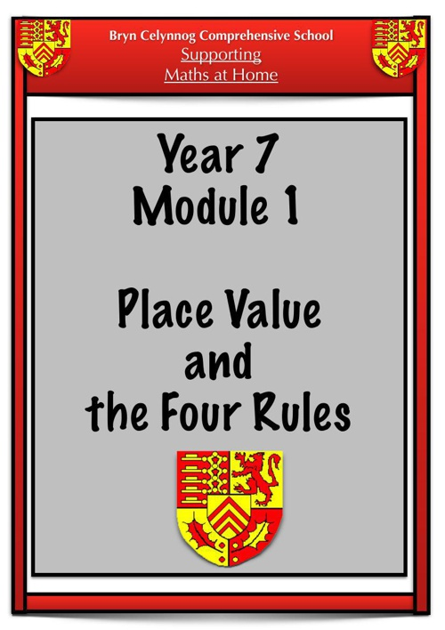 Year 7 Module 1 Booklet