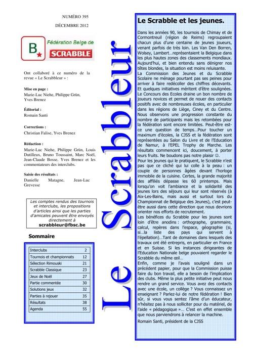 Scrabbleur Décembre 2012