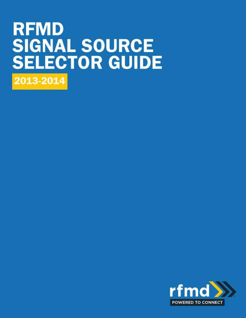 2013-2014 Signal Source Selector Guide