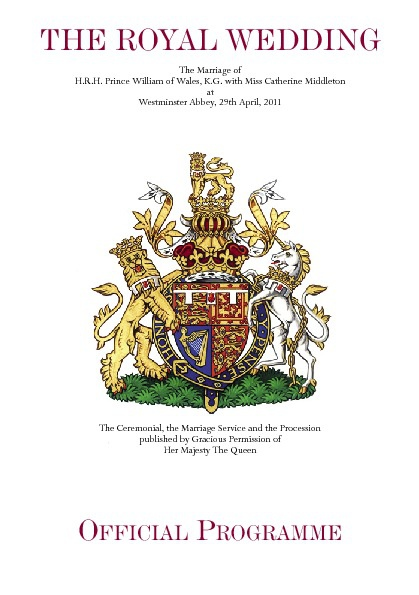 Royal Wedding Official Programme