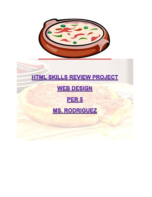 HTML review project