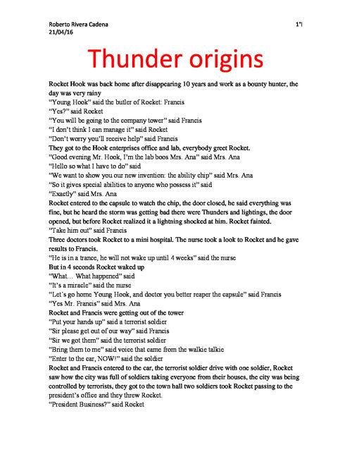 Thunder origins