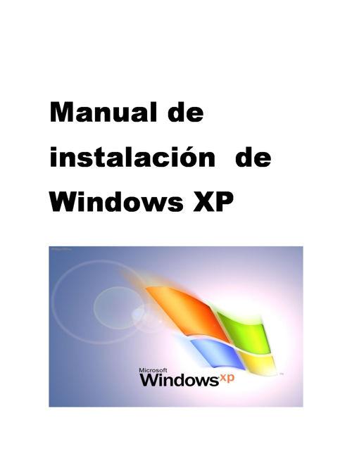 pasos de instalacion de w-xp