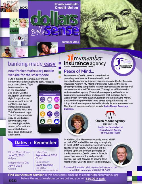 Dollars and Sense Newsletter-July 2016