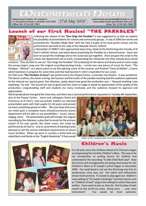 Watermead Newsletter May 2010