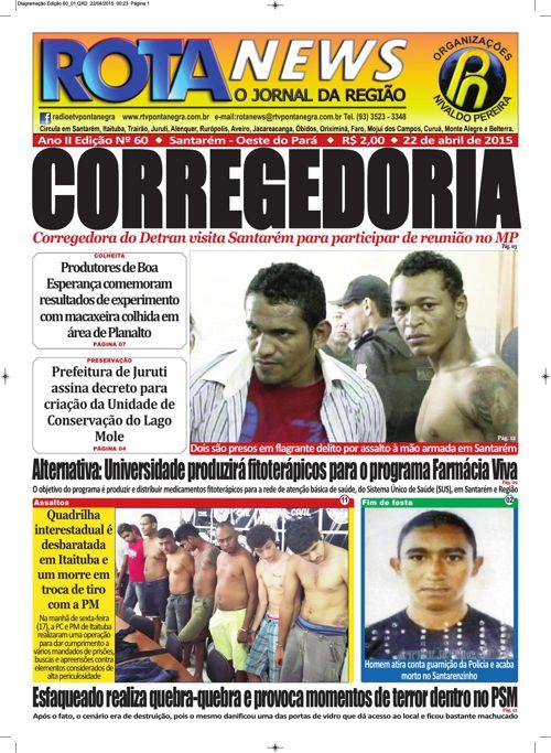 Jornal Rota News - Ano II Edição LX - 22 de abril de 2015