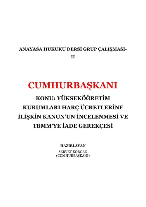 GRUP II - CB - KANUN İADE