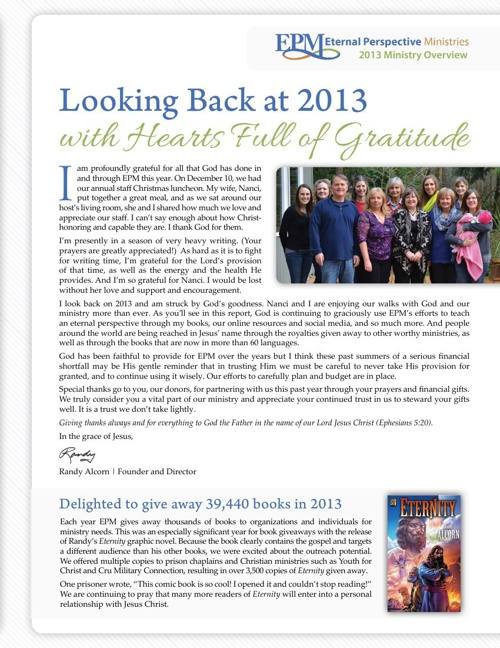 EPM's 2013 Ministry Overview