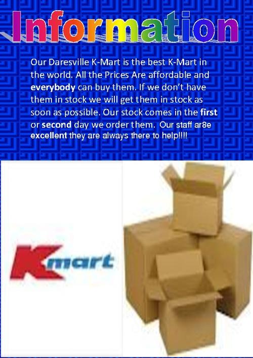 K-Mart Information Book