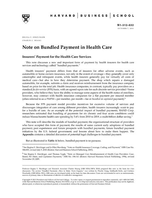 Bundled Payment