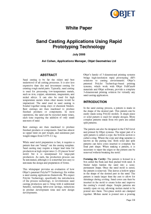 Sand Casting Applications