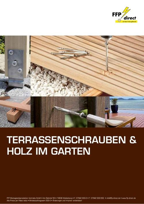 Terrassenschrauben & Holz im Garten