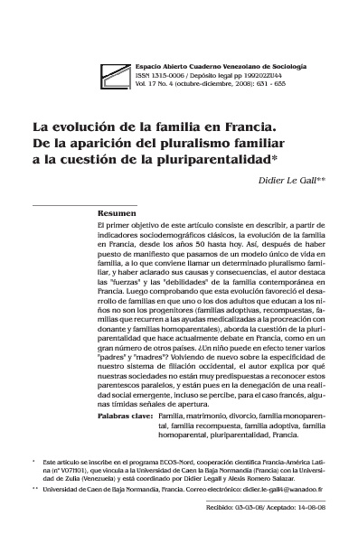 LA EVOLUCIÓN DE LA FAMILIA EN FRANCIA