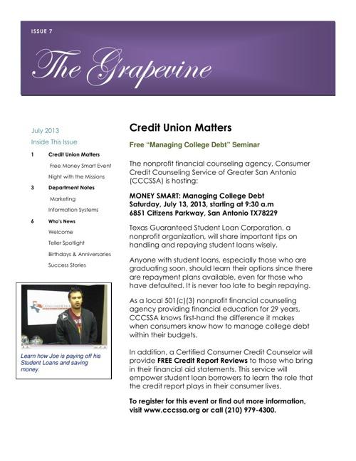 July 2013 Grapevine