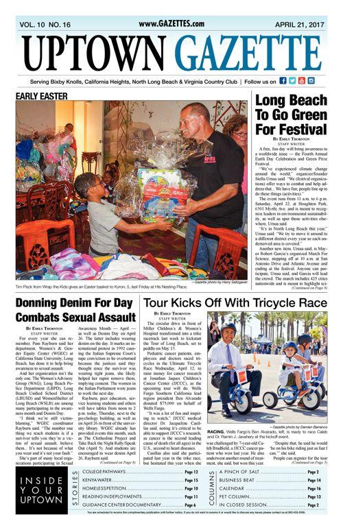 Uptown Gazette  |  April 21, 2017