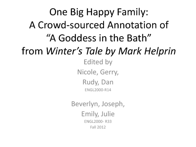One Big Happy Family: A Crowd-sourced Annotation
