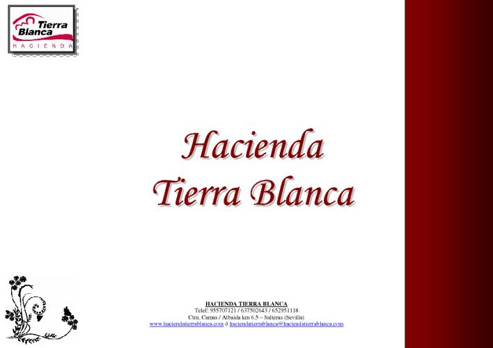 Hacienda Tierra Blanca E-book 1.0