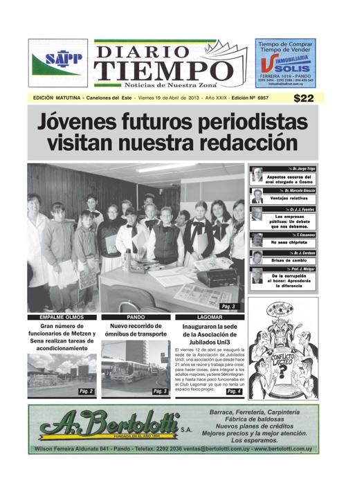 Dierio Tiempo - Edición 6957 - 19 de Abril de 2013