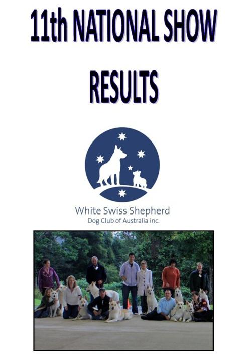 National Show 2012 Results Newsletter Pt 1