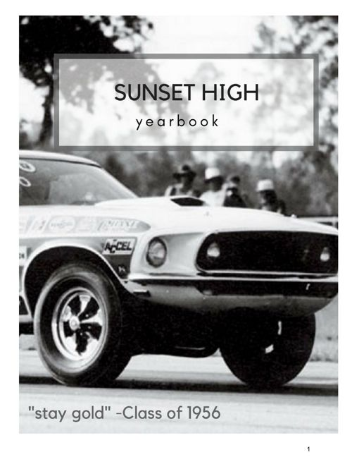 Outsiders yearbook Sunset High