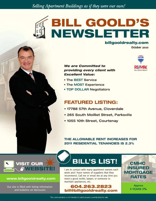 Bill Goold Newsletter Oct 2010