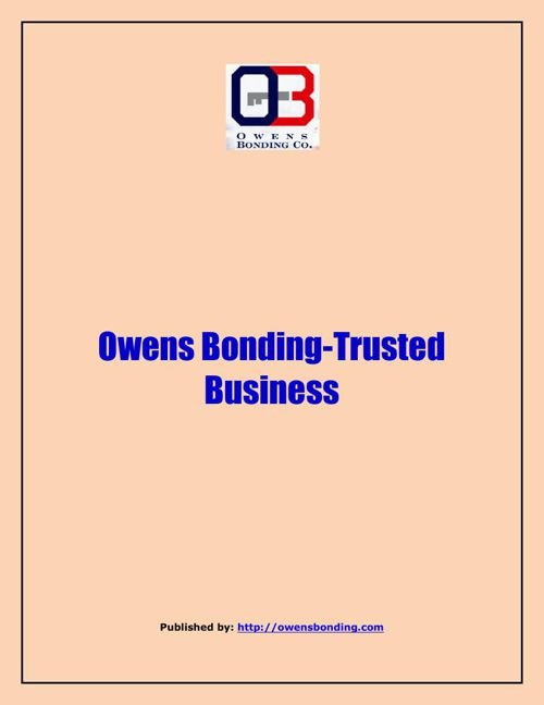 Owens Bonding-Trusted Business