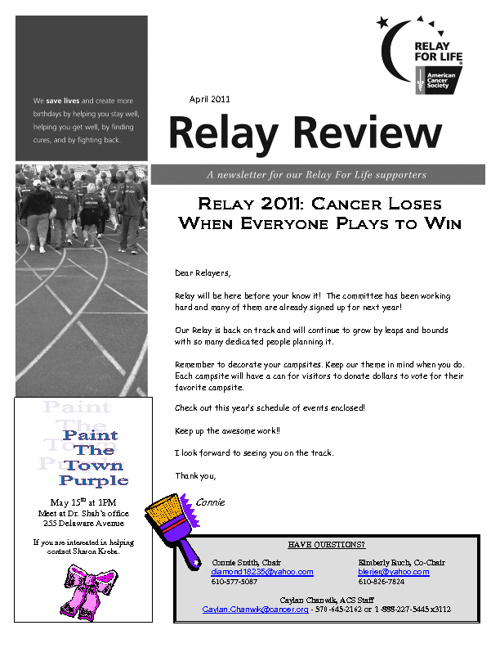 Relay For Life trail
