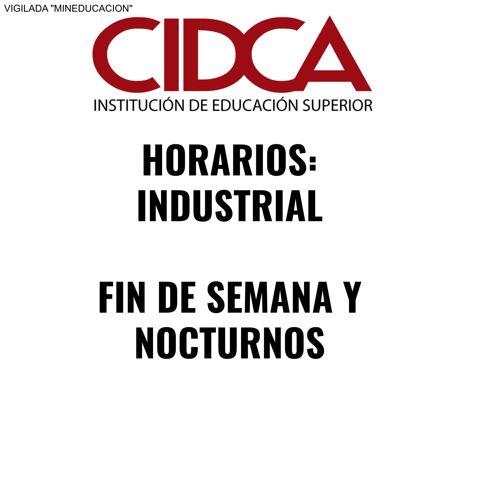 HORARIOS DE INDUSTRIAL