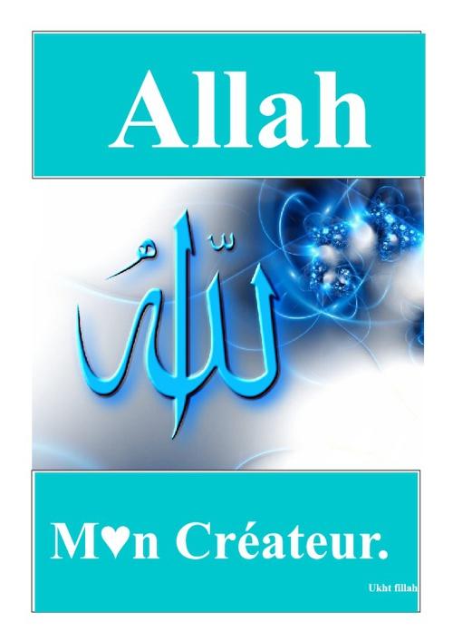 Allah m♥n créateur.