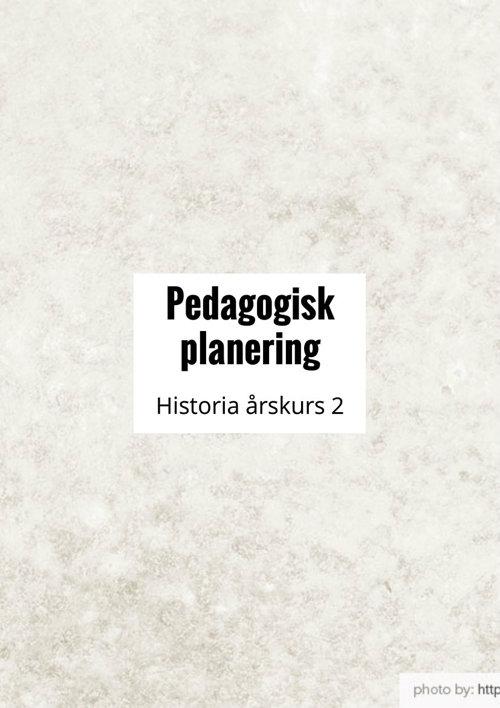 Pedagogisk planering historia