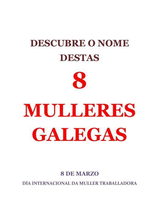 Descubre o nome destas 8 mulleres galegas