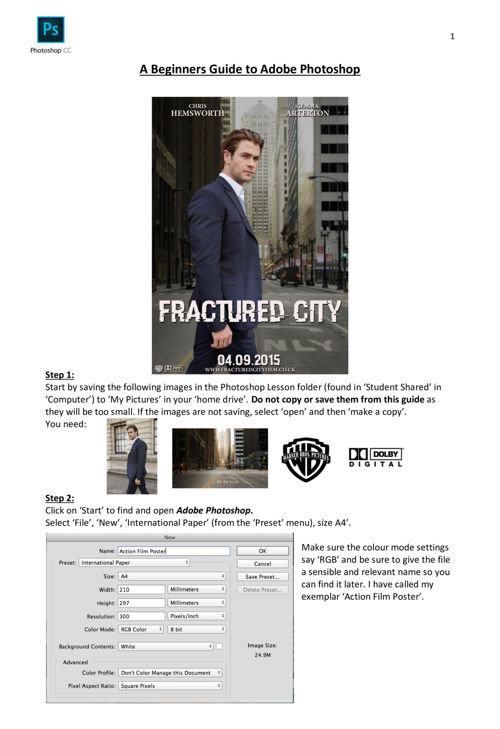 Photoshop Task 1 - Action Film Poster