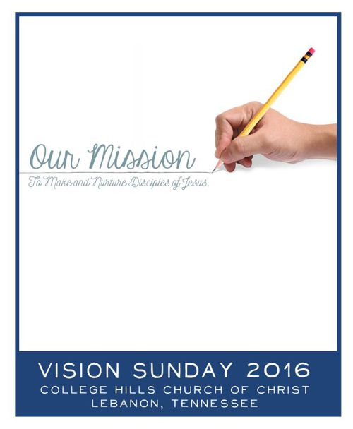 Vision Sunday booklet 2016