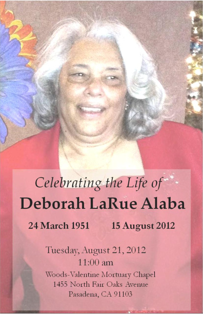 A Celebration of Life: Deborah LaRue Alaba