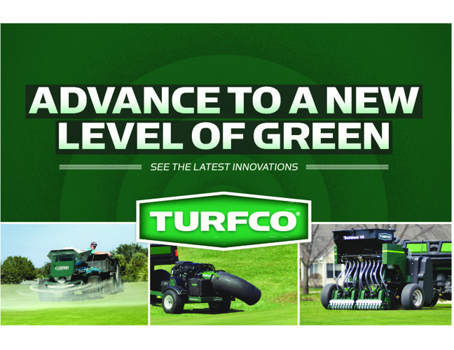Advance to a new level of green with Turfco