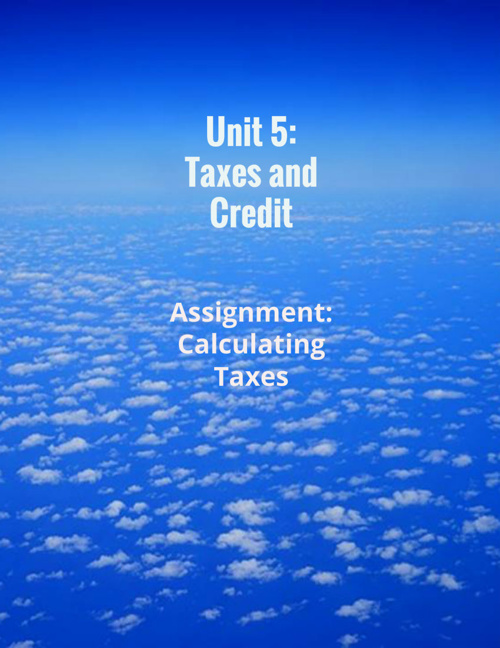 Unit 5 Taxes and Credit
