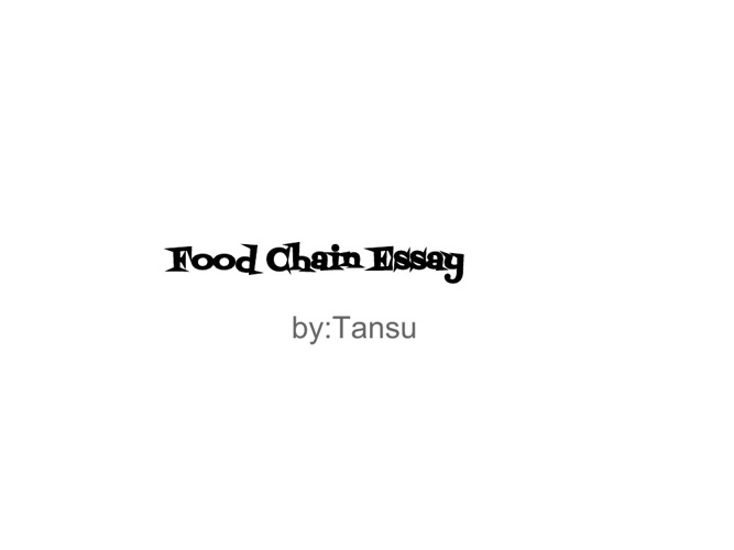 Food Chain Essay