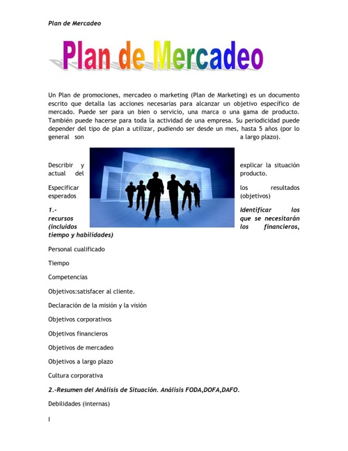 Plan de Mercadeo
