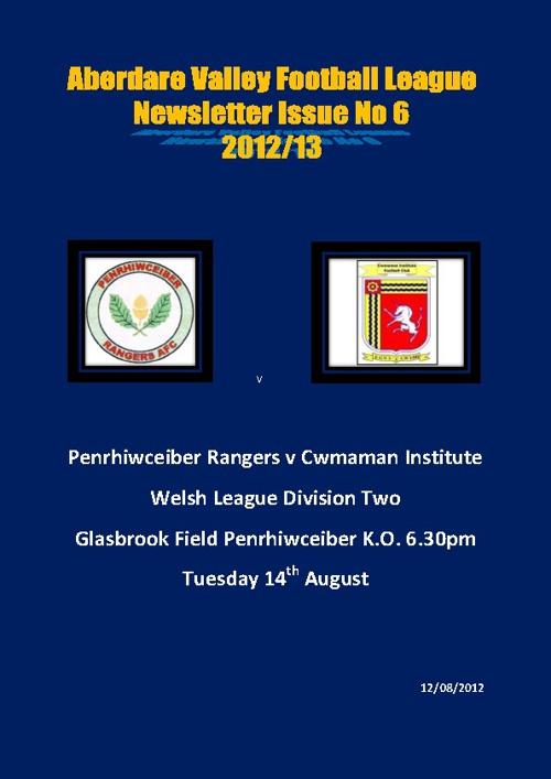 Aberdare Valley Football League Newsletter Issue 6