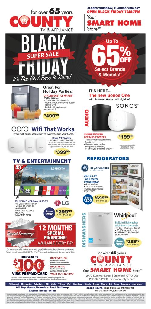 County TV and Appliance Black Friday!