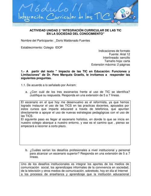 """""""Integración curricular de las TIC"""""""
