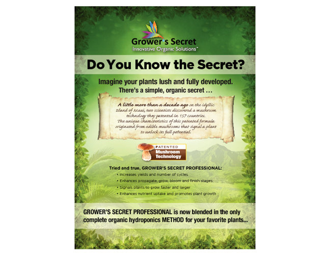 Grower's Secret Product Line Information Pack