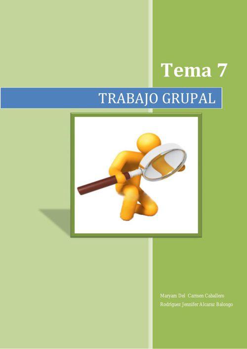 trabajo grupal tema 7 (Jennifer y Alcaraz)