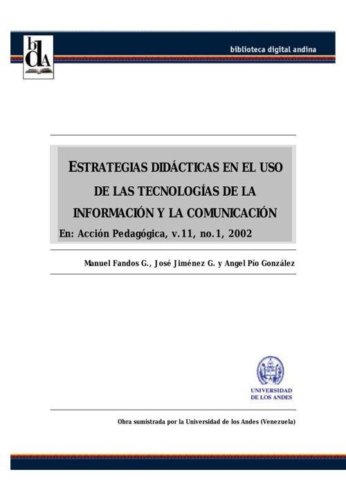 Las TIC como estrategias didacticas