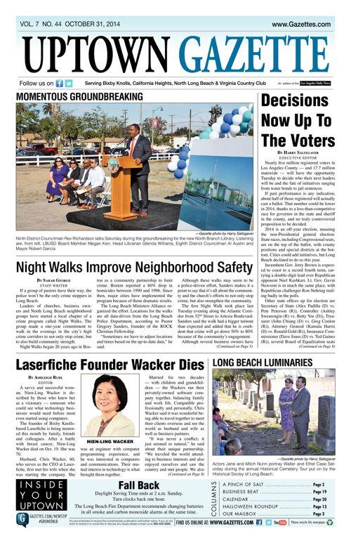 Uptown Gazette     October 31, 2014