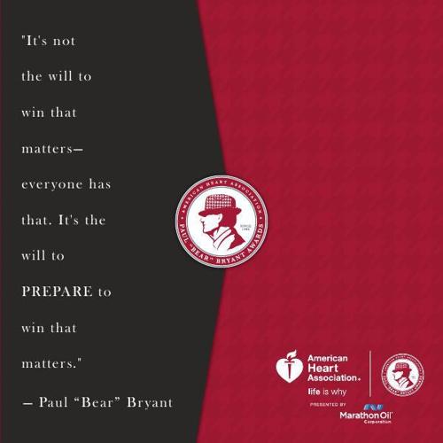 """2015 Paul """"Bear"""" Bryant Invitation"""