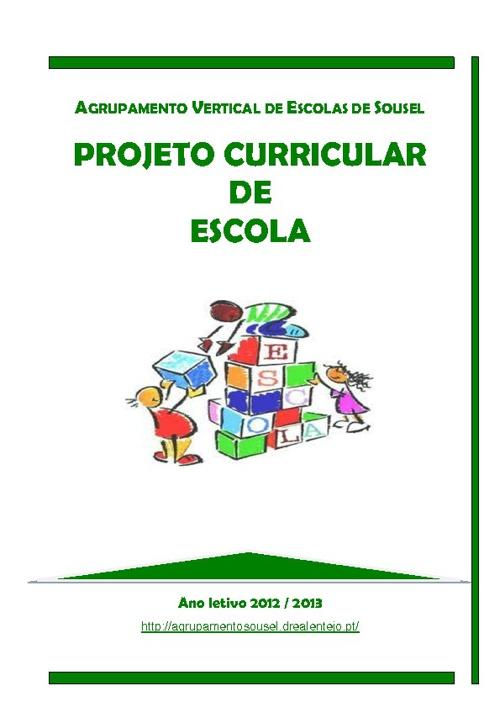 Projeto Curricular de Escola 2012-2013 - V.21.09.2012
