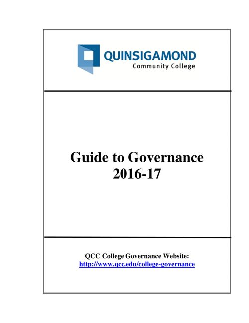 Governance Guide 2016-2017
